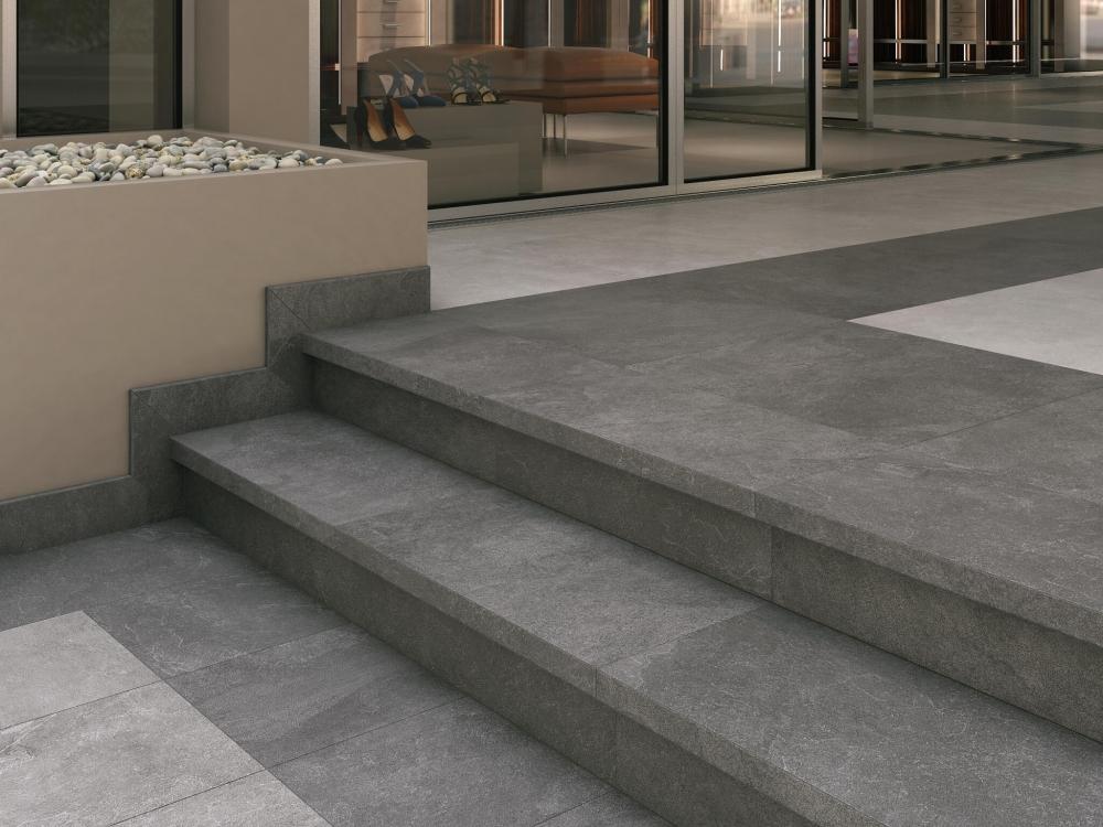 Tuintegels 60x60 Antraciet.Dd600600r Keramische Tegels Steenlook Pro Stone Antraciet